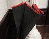 Red & Black Parasol: Scarlet Midnight