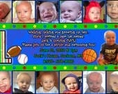 1st Birthday 12 Months Printable Custom Photo Invitation
