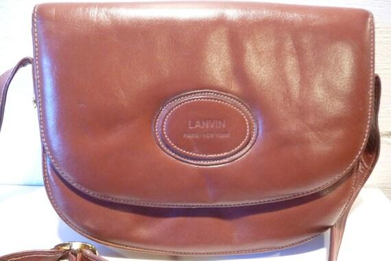 Vintage Lanvin Paris Leather Purse -  Handbag