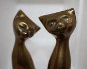 Vintage Metal Cat Figurines
