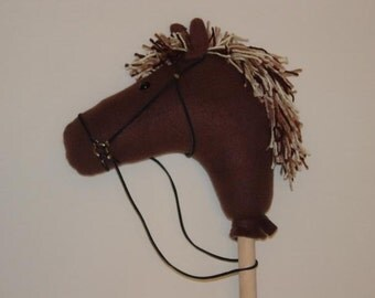Brown Handmade Stick Horse