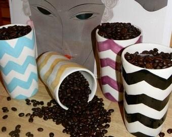 SALE today. Travel Mug in Chevron Design (you pick color)