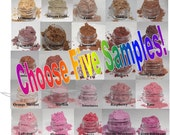 Mineral Eye Shadow sample colors choose 5 mica powder shadow colors