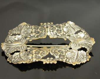 Turn of the Century Victorian Estate Floral Brooch With Original C Clasp