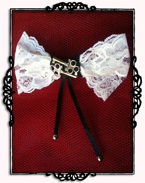 Handcuff Key and Lace Bow