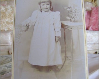 Sweetest Antique Blonde Baby GIRL CABINET CARD
