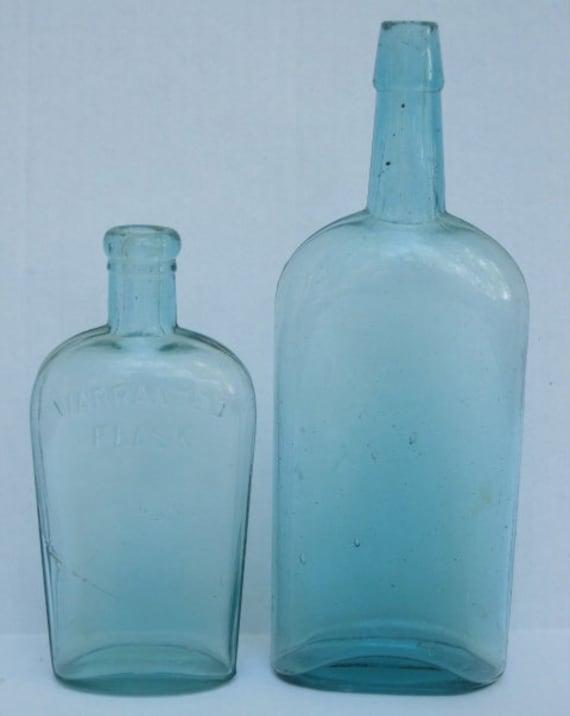 Antique Blue Glass Bottles Vintage Blue Glass Bottles