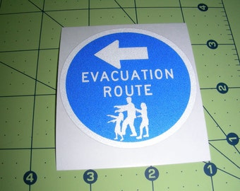 Zombie Evacuation Route Sticker