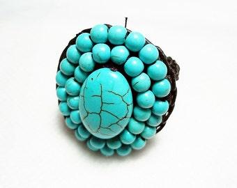 handmade ring 06 turquoise vintage gem unique jewelry