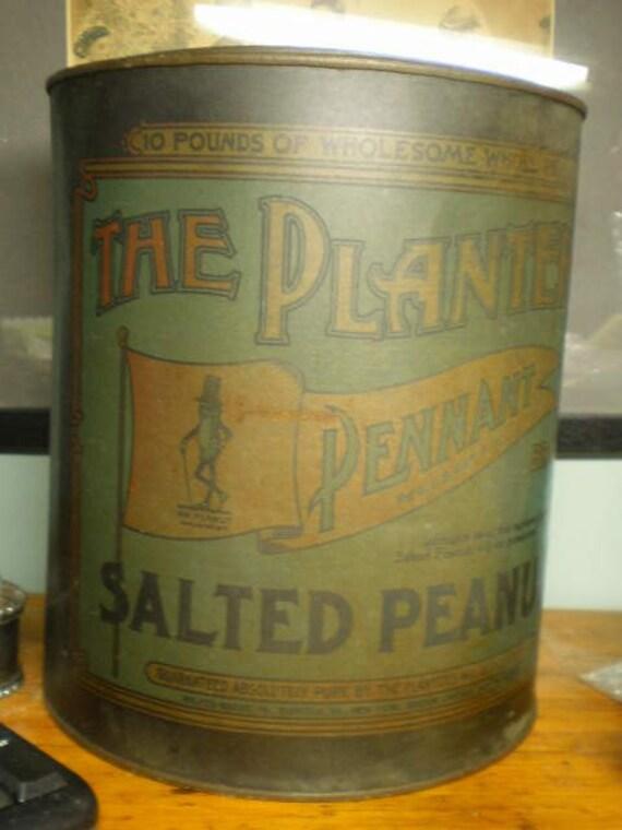 Planters Peanut Store Tin 10 lb Size