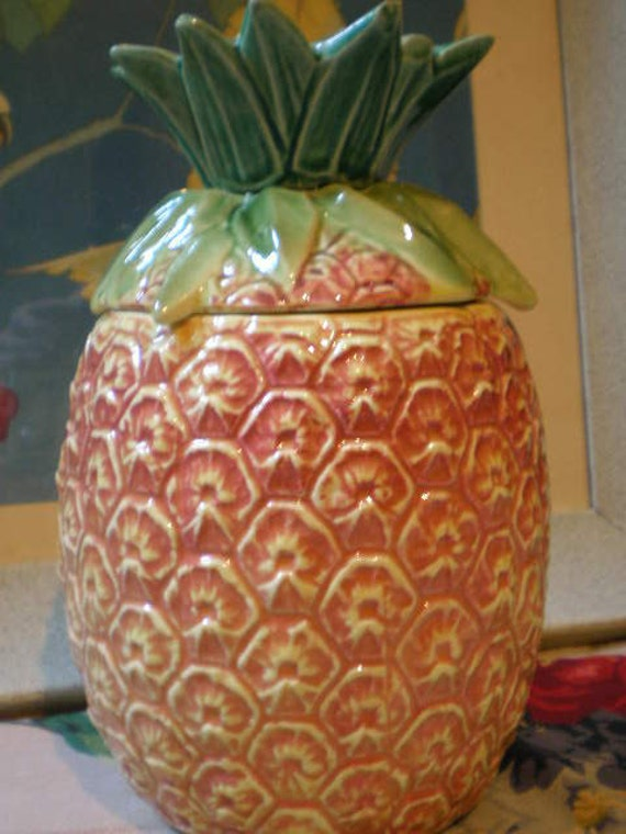 Vintage Mccoy Pineapple Cookie Jar Kitschy
