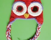 coral owl hat