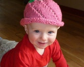 Baby Rose Hat Pattern (knit)