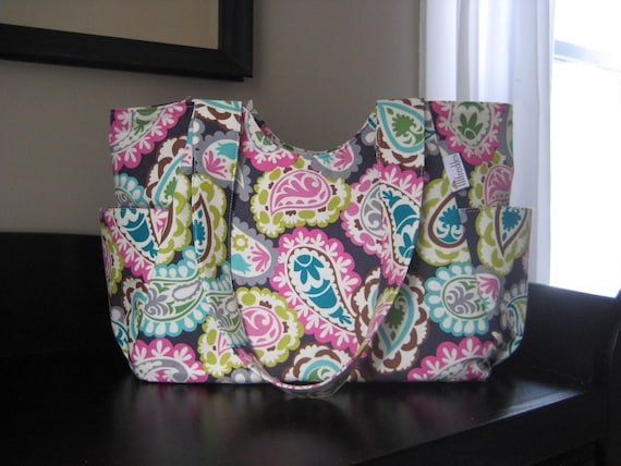 Custom Diaper Bag - Roco Collection with Zip Top