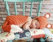 Fox Hat & Cape Photo Prop - Newborn
