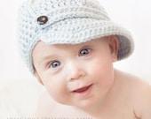Boys Crochet Ball Cap - Custom Color & Size