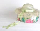 Vintage Women's Pale Green Wide Brimmed Hat