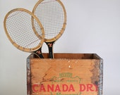 Vintage Wooden Canada Dry Crate, Photo prop box