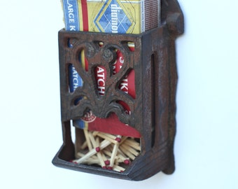 Iron matchbox holder