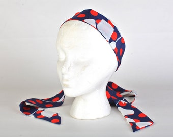 Women's Vintage Red, white, and blue necktie/headband