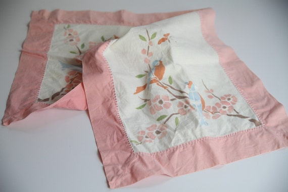 White and pink table runner