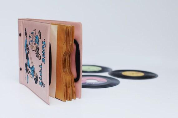 Vintage 1950 Kids  Vinyl Record Holder Case