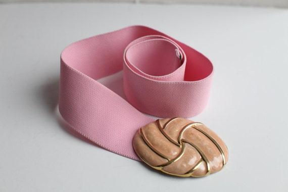 Women's Vintage Pink Stretch Belt