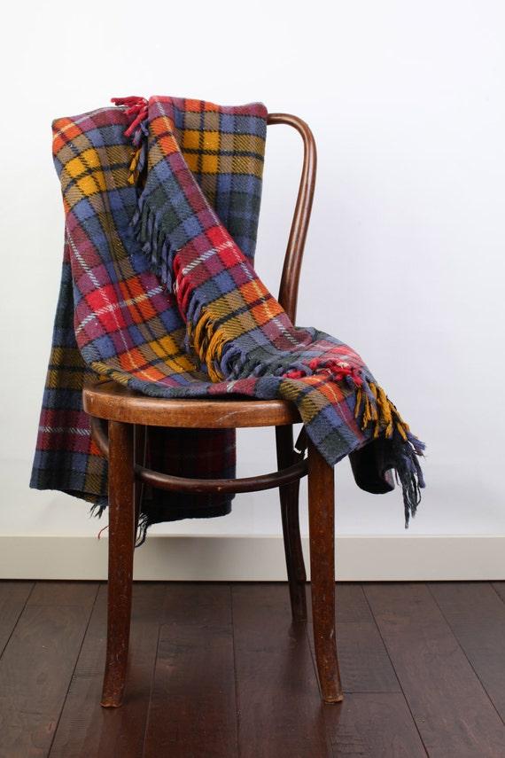 Plaid wool blanket