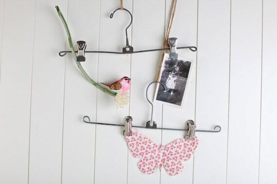 Metal Skirt Hanger Re-purposed as Wall Display, set of two