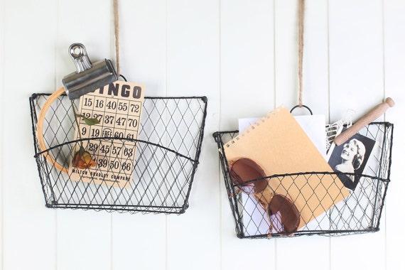 Black wire hanging baskets