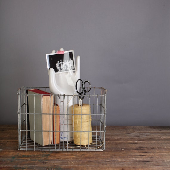 Collapsible wire basket, metal storage basket