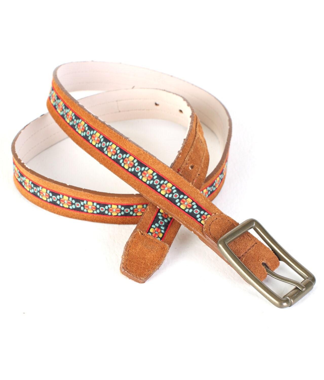 womens vintage brown leather belt