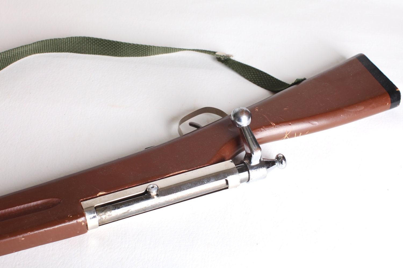 Wooden Toy Gun Rifle Bolt Action