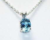 """RESERVED FOR SUE  - Blue topaz  pendant  gifts for her  """"Baby's got blue Eyes"""""""