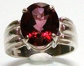 "Red Topaz ring, solitaire ring, birthstone ring, red, cocktail ring, s7   ""Merlot Wine"""