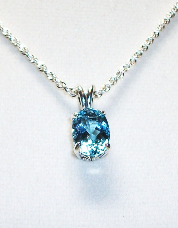 "RESERVED FOR SUE  - Blue topaz  pendant  gifts for her  ""Baby's got blue Eyes"""
