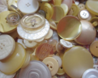 Vintage Shades of Yellow Buttons