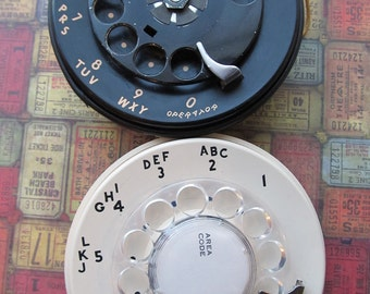 Vintage Phone Dial with Mechanism
