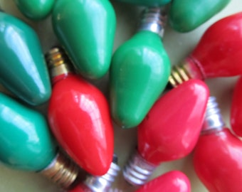 6 Vintage Christmas Tree Light Bulbs