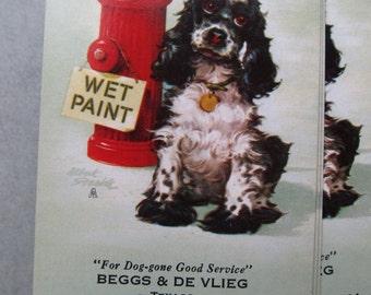3 Vintage Spaniel Advertising Playing Cards