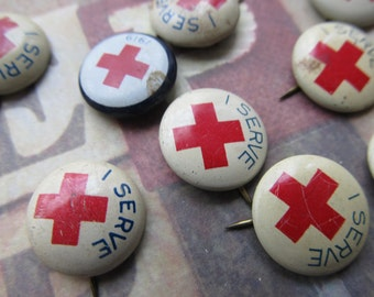 1 Vintage Red Cross Pin