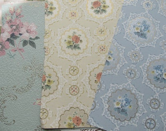3 Vintage 1964 Wallpaper Samples