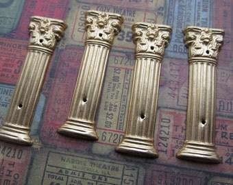1 Vintage Brass Column