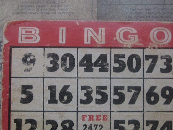 2 Vintage Bingo Cards