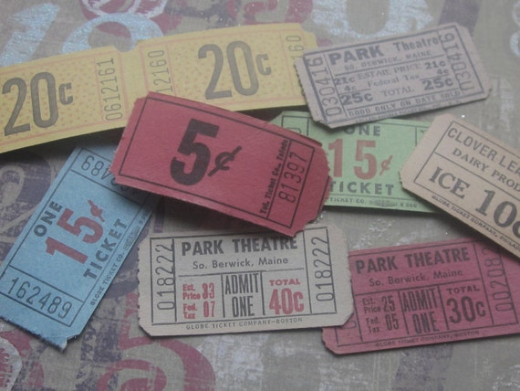 Vintage Ticket Mix