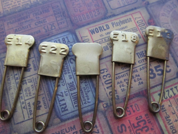 Vintage Brass Laundry Pin