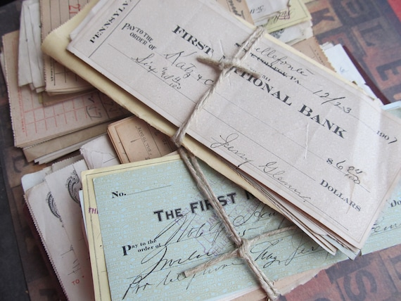 Vintage Pack of Financial Ephemera