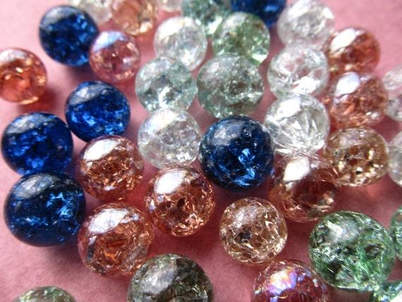 Vintage Shattered  Marbles