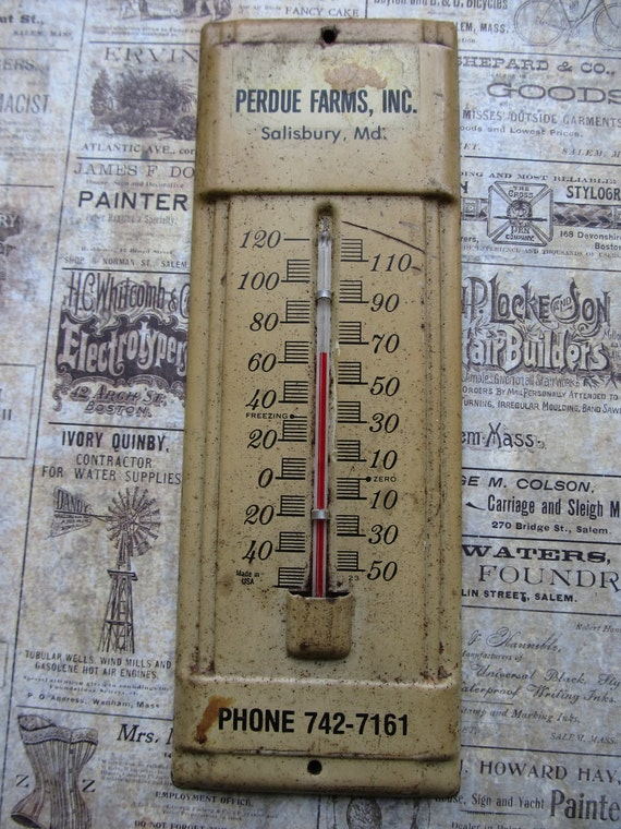 Vintage Perdue Farms Thermometer