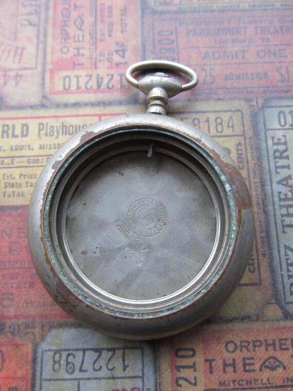 Vintage Silver Tone Pocketwatch Case